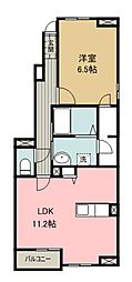 西武池袋線 入間市駅 バス9分 ペアーレ入間入口下車 徒歩4分の賃貸アパート 1階1LDKの間取り