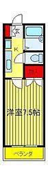 第6フジハイツ[2階]の間取り