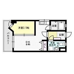 メイワコンチネンタル[2階]の間取り