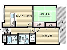 ハイムグローリー2[2階]の間取り