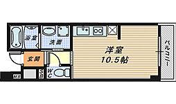 カドモト三国ヶ丘[4階]の間取り