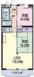 愛知県半田市花園町4丁目の賃貸マンションの間取り