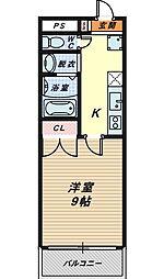 大阪府堺市堺区宿院町西2丁の賃貸マンションの間取り
