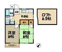 カーサー城廻[2階]の間取り