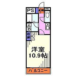 埼玉県川口市長蔵3丁目の賃貸マンションの間取り