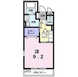 大阪府松原市高見の里1丁目の賃貸アパートの間取り