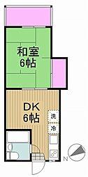 東京都日野市多摩平5丁目の賃貸マンションの間取り