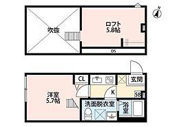 pavillon honnete(パビユウネッツ)[2階]の間取り