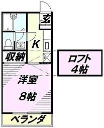 ベノーネ新所沢[2階]の間取り