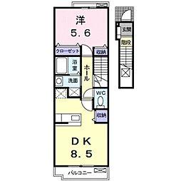 ネオ フレージュII[2階]の間取り