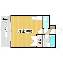 鴻陽ハイツ[307号室]の間取り