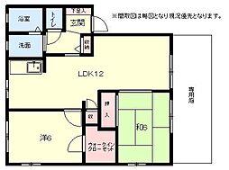 [タウンハウス] 福岡県福岡市博多区板付5丁目 の賃貸【/】の間取り