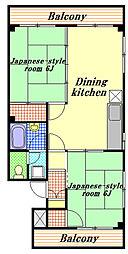ビューティーハイツ[2階]の間取り