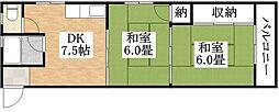 エースマンションB棟[3階]の間取り