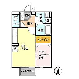 AP-AKI[1階]の間取り