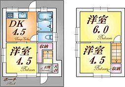 [一戸建] 兵庫県神戸市垂水区西舞子2丁目 の賃貸【兵庫県 / 神戸市垂水区】の間取り