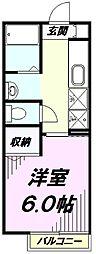 東京都八王子市千人町4丁目の賃貸アパートの間取り