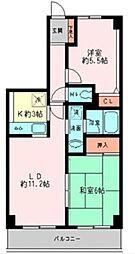 グレイスコート二俣川 弐番館[2階]の間取り