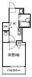 東京メトロ副都心線 地下鉄赤塚駅 徒歩9分の賃貸アパート 1階1Kの間取り