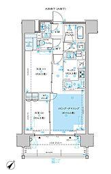 ディームス渋谷本町 10階2LDKの間取り