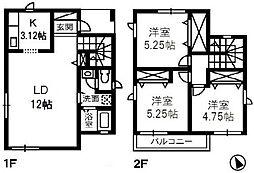 [一戸建] 岡山県倉敷市片島町 の賃貸【/】の間取り