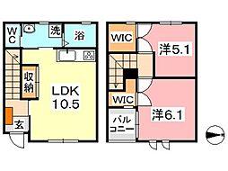 Akahai House[110号室]の間取り