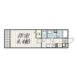 リブリ・東千葉[3階]の間取り
