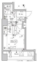 シーフォルム西大井 10階ワンルームの間取り