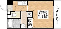 アッシュメゾン加美正覚寺II 2階1Kの間取り