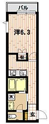 ドゥ ジュピテール[3階]の間取り
