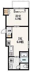 仮称 経堂1丁目メゾン 1階1DKの間取り