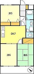 サングリーンタケシノ[312号室]の間取り