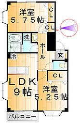 アネモス弐番館[3階]の間取り