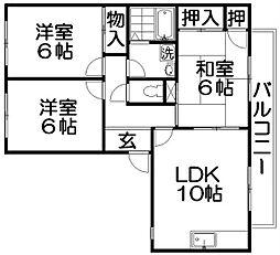 メゾン新家[1階]の間取り