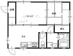 秀平アパート[101号室]の間取り