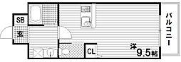 ラウェゾン板宿[6階]の間取り