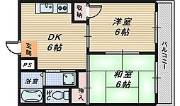 ハウス壱番館[4階]の間取り