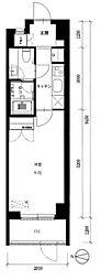 京王線 府中駅 徒歩4分の賃貸マンション 1階1Kの間取り