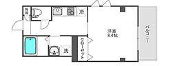 東京メトロ半蔵門線 神保町駅 徒歩2分の賃貸マンション 2階1Kの間取り