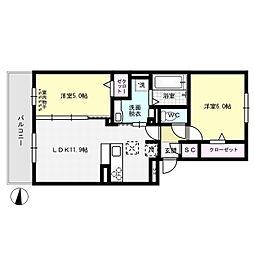 グラースT[1階]の間取り