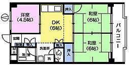 コーポチェリー[3階]の間取り