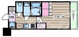 おおさか東線 JR淡路駅 徒歩6分の賃貸マンション 14階1Kの間取り