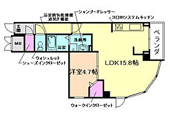 大阪府豊中市小曽根1丁目の賃貸マンションの間取り