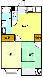 T−net セカンドリヨ[2階]の間取り
