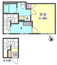 仮)大田区東矢口3丁目1410新築アパート[301号室]の間取り