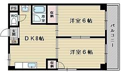 上新庄ビューハイツ[4階]の間取り