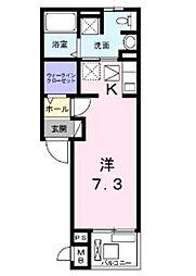 エムズレジデンス[2階]の間取り