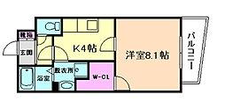 大阪府豊中市原田中1丁目の賃貸マンションの間取り