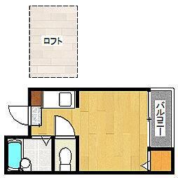 ハイビレッジ平尾[2階]の間取り