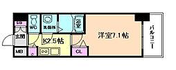 プレサンス大阪福島シエル[7階]の間取り